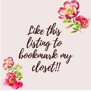 Like this Post to Bookmark my Closet